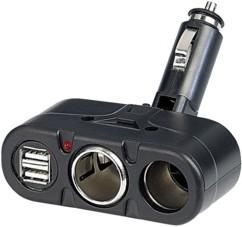 Multiprise allume-cigare 2 X 12 V et 2 X USB