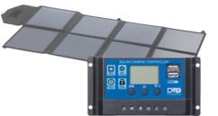 Panneau solaire mobile pliable 100 W + Régulateur 12/24V avec 2x USB