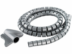 Passe-câble flexible universel gris - 1,5 M