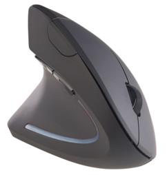 Souris optique ergonomique sans fil 1600 dpi 2,4 GHz pour gauchers