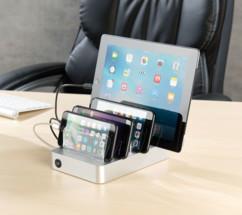 Station de chargement 10 A / 50 W à 6 ports USB et cloisons amovibles
