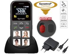 Téléphone mobile pour appels d'urgence avec localisation GPS & 4 touches de composition automatique