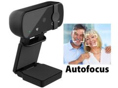 Webcam USB 4K autofocus avec cache
