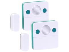 2 détecteurs d'ouverture de porte avec alarme réglable