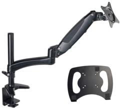 bras articulé pour moniteur pc avec etau gsa-27 general office