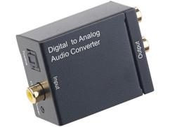 Convertisseur audio Toslink/Coaxial vers Cinch avec câble
