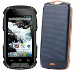 Smartphone anti-chocs Android avec batterie de secours solaire 10000 mAh