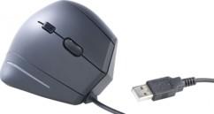 Souris optique ergonomique 1600 DPI, 6 boutons - Filaire