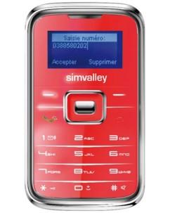 Téléphone miniature ''Pico Inox RX-180'' rouge