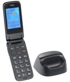 """Téléphone portable à clapet Dual SIM """"XL-947"""" avec station de chargement"""