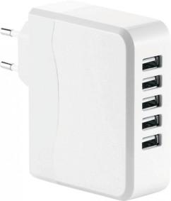 Chargeur secteur USB intelligent 5 ports - Compact