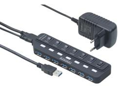 Hub Actif 7 Ports Autonomes USB 3.0