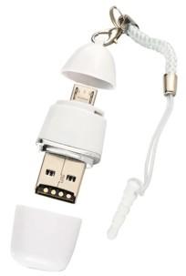 Lecteur de cartes MicroSD & clé USB 2 en 1 pour smartphone