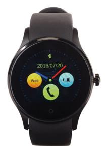 smartwatch autonome avec tracker fitness cardiofrequencemetre et notifications bluetooth simvalley pw-450