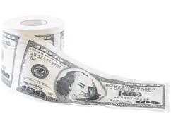Papier toilette ''100 $''