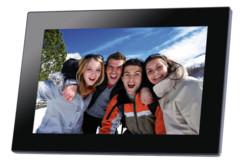 cadre photo numérique avec grand écran 10 pouces hd et ips somikon
