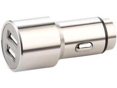Chargeur USB 12/24 V 2 ports en acier