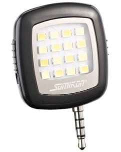 Lampe vidéo 16 LED pour smartphone avec connexion jack