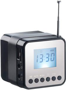 Mini station MP3 avec radio, réveil et Bluetooth  ''MPS-560.cube'' - Noir