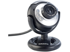 Webcam USB HD SXGA à 6 LED