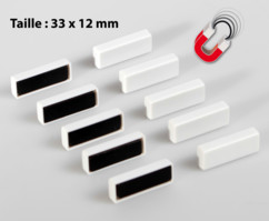 Pack de 10 aimants 33 x 12 mm Niceday
