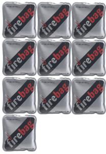 Lot de 10 chaufferettes de poche ''Firebag''