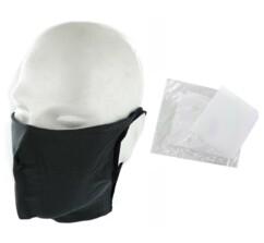 10 masques barrières lavables - Anthracite - Avec filtres