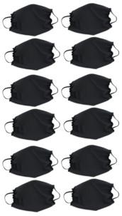 12 masques en polyester Spandex
