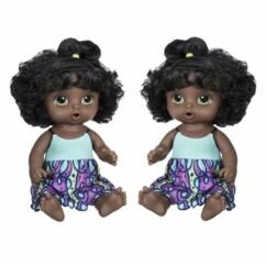 """Lot de 2 poupées interactives """"Baby Alive miam miam les bonnes pâtes""""."""
