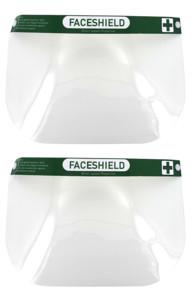 Deux visières de protection Face Shield vendues chez Pearl.
