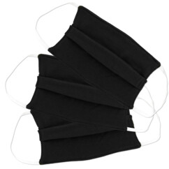 3 masques de protection en coton noir