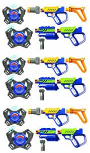 3 sets de laser game Advance Battle OPS Lazer M.A.D