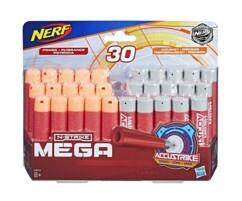 Pack de 30 fléchettes en mousse MEGA Accustrike pour Nerf N-Strike.