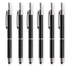 6 stylets tactiles avec stylo à bille 2 en 1 Premium