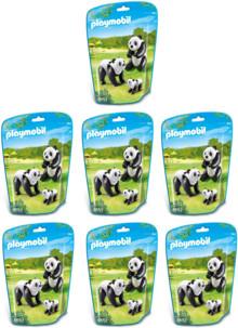 14 pandas avec 7 bébés pandas n°6652