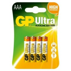 Pack de 8 piles alcalines AAA (LR03) GP Ultra.