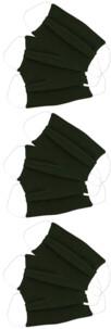 9 masques en coton - Kaki