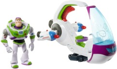 Buzz l'Éclair et son vaisseau d'exploration galactique.