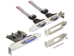 Carte contrôleur PCI express 2 série / 1 parallèle Delock