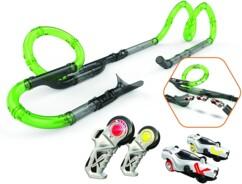 Circuit Exost Loop Infinite Racing Set avec 2 voitures de course et télécommandes.