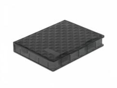 """Étui de protection pour disque dur 2.5"""" noir de la marque Delock."""