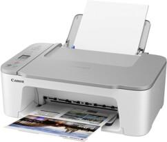 Imprimante Canon Pixma TS3451 blanche.
