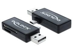 Lecteur de cartes pour port USB et Micro USB OTG - Delock 91731