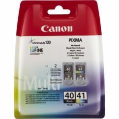 Pack de cartouches originales Canon PG40 et CL41 - CMJN