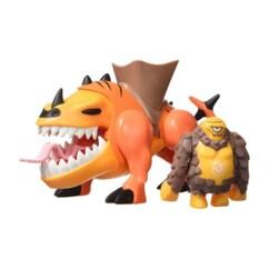 Figurines Mutant Busters de Cyklop et son titan.