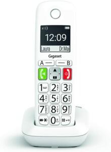 Téléphone fixe Gigaset E-290 Solo blanc.