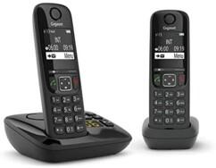 Téléphones fixes AS690A Duo - 2 combinés - Avec répondeur - Noir