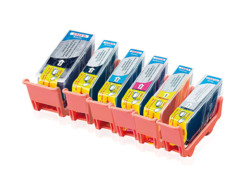 6 cartouches compatibles Canon PGI-525BK XL et CLI-526 - CMJNG