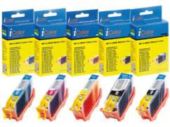 5 cartouches compatibles Canon PGI-5 et CLI-8 - CMJN