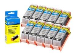 10 cartouches compatibles Canon PGI-550BK XL - Noir